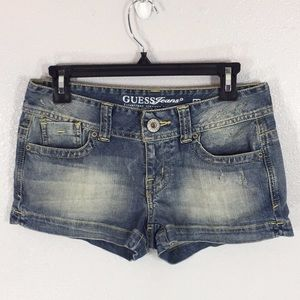 Guess distressed jean shorts